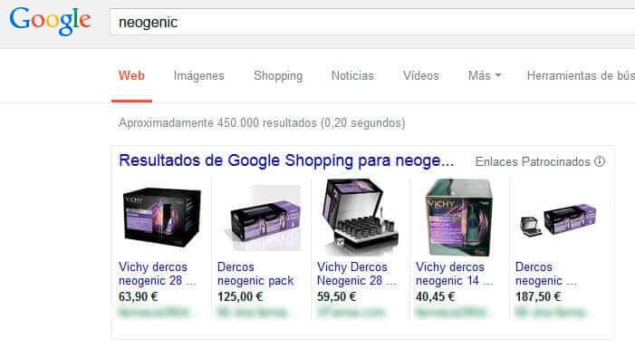 Anuncios en Google Shopping