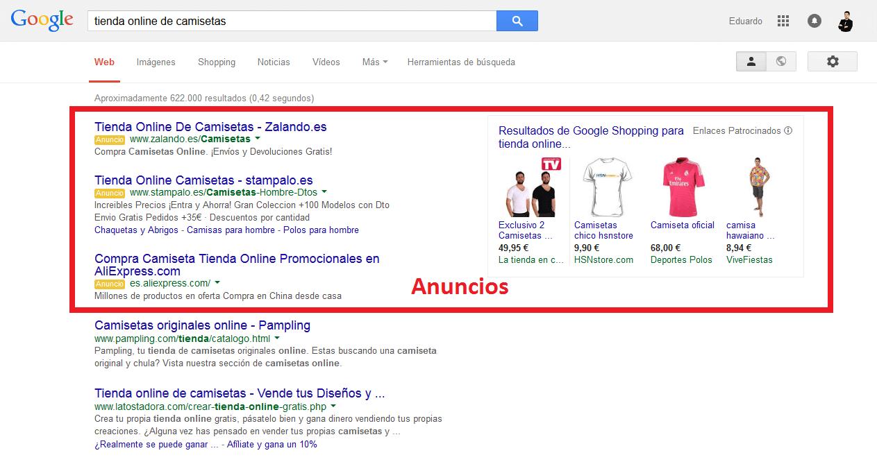 Zona de publicidad Google AdWords