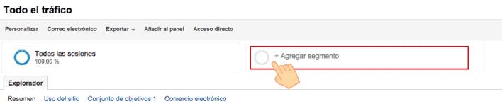 Segmento personalizado Google Analytics