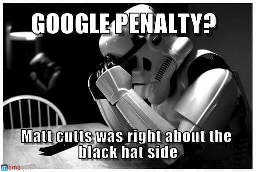 Penalización de Google a un pobre Stormtrooper